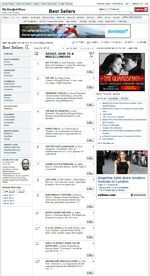 new york times best sellers