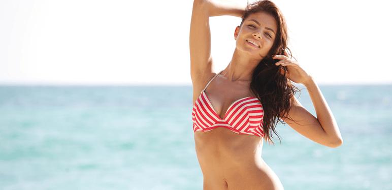 beautiful woman beach