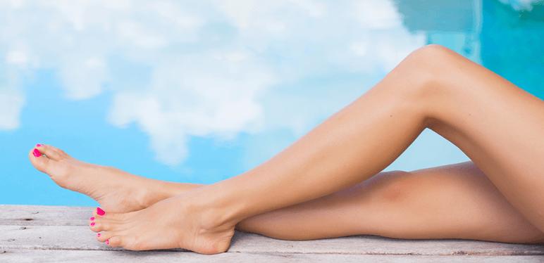 woman legs pool