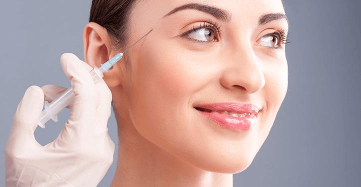 woman botox treatment