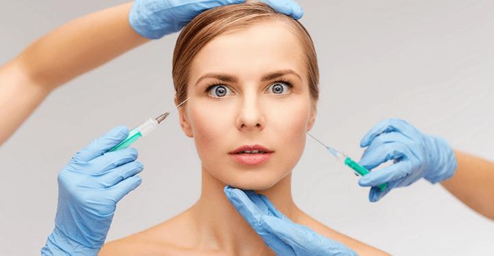woman botox injections