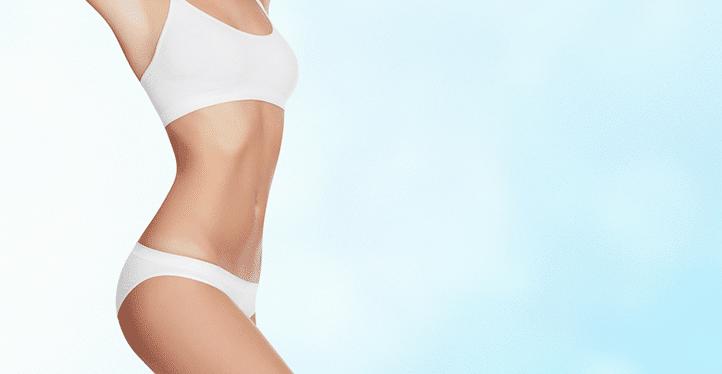 slim body white bikini