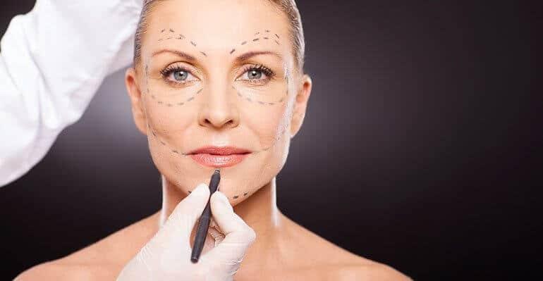 woman facial procedure image