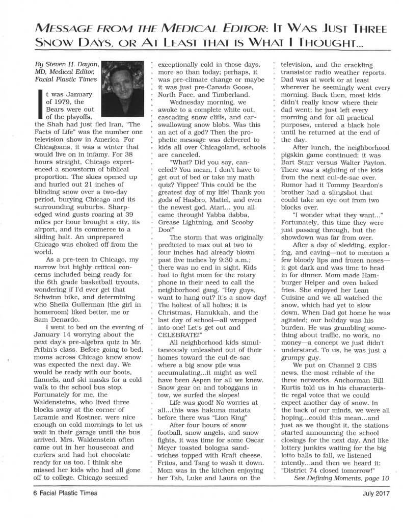 3 Snow Days Article Page 1